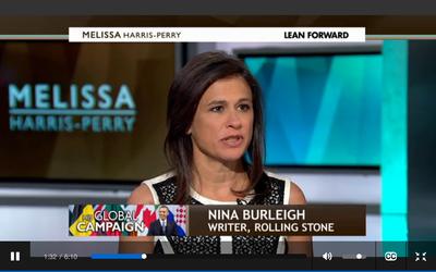 Nina Burleigh on MSNBC